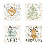 Handwritten lettering for holiday decorations Royalty Free Stock Photography