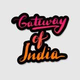 Handwritten lettering typography Gateway of royalty free illustration