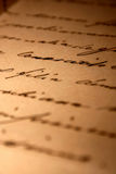 Handwritten love letter. A vintage handwritten love letter Royalty Free Stock Photography