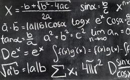 Free Handwritten Mathematical Formulas On Blackboard Written. Royalty Free Stock Images - 109925639