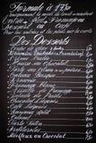 Handwritten menu Royalty Free Stock Photography