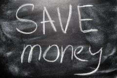 Handwritten message on chalkboard Stock Image