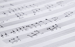 Handwritten Music Notation Royalty Free Stock Photography