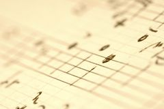 Handwritten music notes. Stock Photos