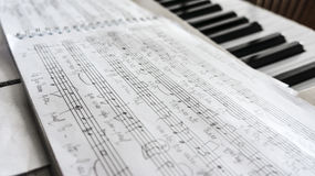 Handwritten music sheet Stock Image