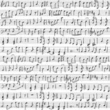 Handwritten musical notes Royalty Free Stock Images