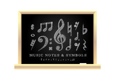 Handwritten musical notes Stock Photos
