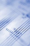 Handwritten Musical Score 3. Handwritten Musical Score on Staff Paper Stock Images