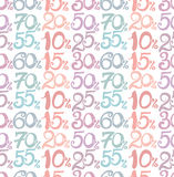 Handwritten numbers. Royalty Free Stock Photos