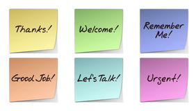Handwritten Post-It Notes Royalty Free Stock Images