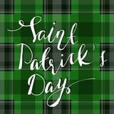 Handwritten Saint Patricks day greetings Stock Photography