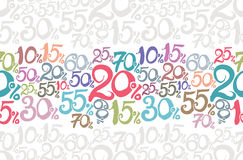 Handwritten Sale numbers. Royalty Free Stock Image