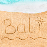 Handwritten in sand for natural, symbol,tourism or conceptual design Royalty Free Stock Photo