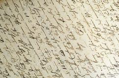 Handwritten Script Royalty Free Stock Photos