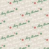 Handwritten seamless christmas pattern Stock Image