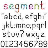Handwritten Segment Font Royalty Free Stock Photography