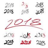 2018 handwritten sign set on white background. 2018 handwritten sign set with white background Stock Photography