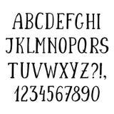 Handwritten simple font, hand drawn sketch alphabet Stock Image