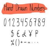 Handwritten simple vector numerals set Stock Photos