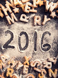 Handwritten 2016 Stock Images