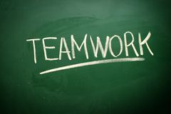 Handwritten Teamwork Royalty Free Stock Photography