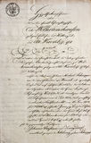 Handwritten text. antique manuscript. vintage letter Stock Photography