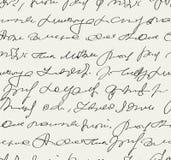 Handwritten text pattern Stock Photography