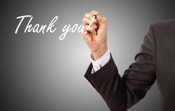 Handwritten thank you Stock Images