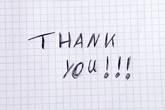 Handwritten Thank You Royalty Free Stock Image