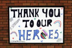 Thank you to our NHS heroes sign