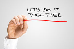 Handwritten Underlined Lets Do It Together Texts Royalty Free Stock Photo