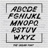 Handwritten Urban font Stock Images