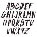 Handwritten vector alphabet. Grunge texture. Royalty Free Stock Photos