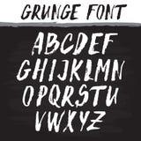 Handwritten vector alphabet. Grunge texture. Royalty Free Stock Image