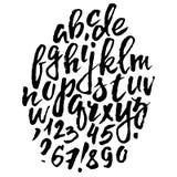Handwritten vector alphabet. Grunge texture. Royalty Free Stock Images