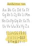 Handwritten vector alphabet Royalty Free Stock Photos