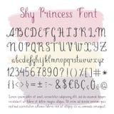 Handwritten vector alphabet Stock Photography