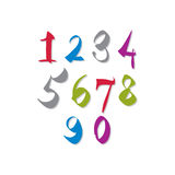 Handwritten vector numbers. Stock Photography