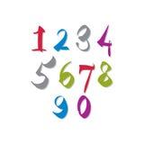 Handwritten vector numbers. Stock Photography
