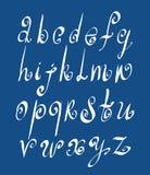 Handwritten vector script, alphabet letters set. Royalty Free Stock Photography
