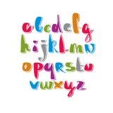 Handwritten vector script, alphabet letters set. Royalty Free Stock Image