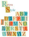 Handwritten vintage alphabet Royalty Free Stock Photo