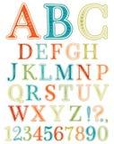 Handwritten vintage alphabet Royalty Free Stock Photos