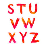 Handwritten watercolor alphabet Royalty Free Stock Image