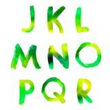 Handwritten watercolor alphabet Stock Photography