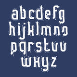 Handwritten white vector lowercase letters, stylish letters set Stock Photography