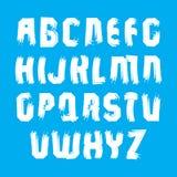 Handwritten white vector uppercase letters Stock Photo