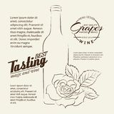 Handwritten wine tasting sign. Royalty Free Stock Images