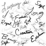 Handwritten Words Stock Image