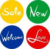 Handwritten words sale love new welcome vector. Handwritten words sale love new welcome vector illustration
